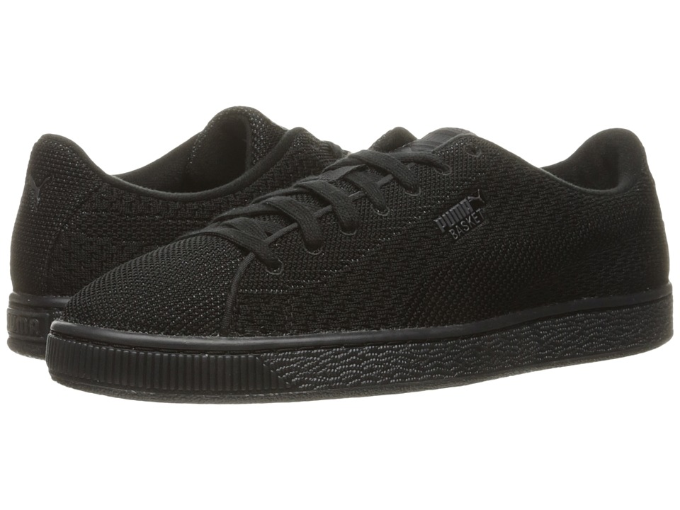 PUMA - Basket Knit Mesh (Black/Dark Shadow) Men's Shoes