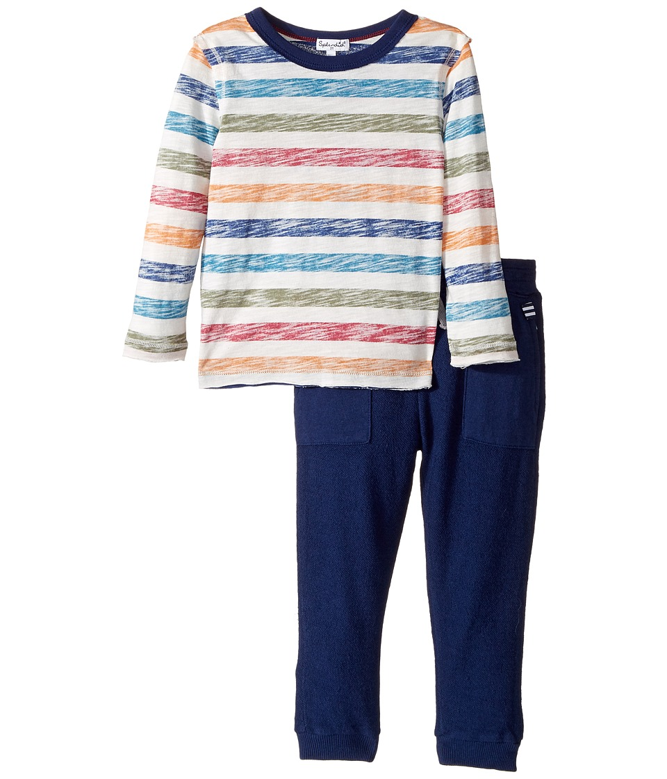 Splendid Littles - Reverse Printed Stripe Shirt and Pants Set (Toddler) (Stripe) Boy's Active Sets