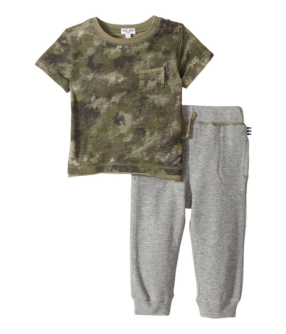Splendid Littles - Camo Tee and Pants Set (Infant) (Camo) Boy's Active Sets