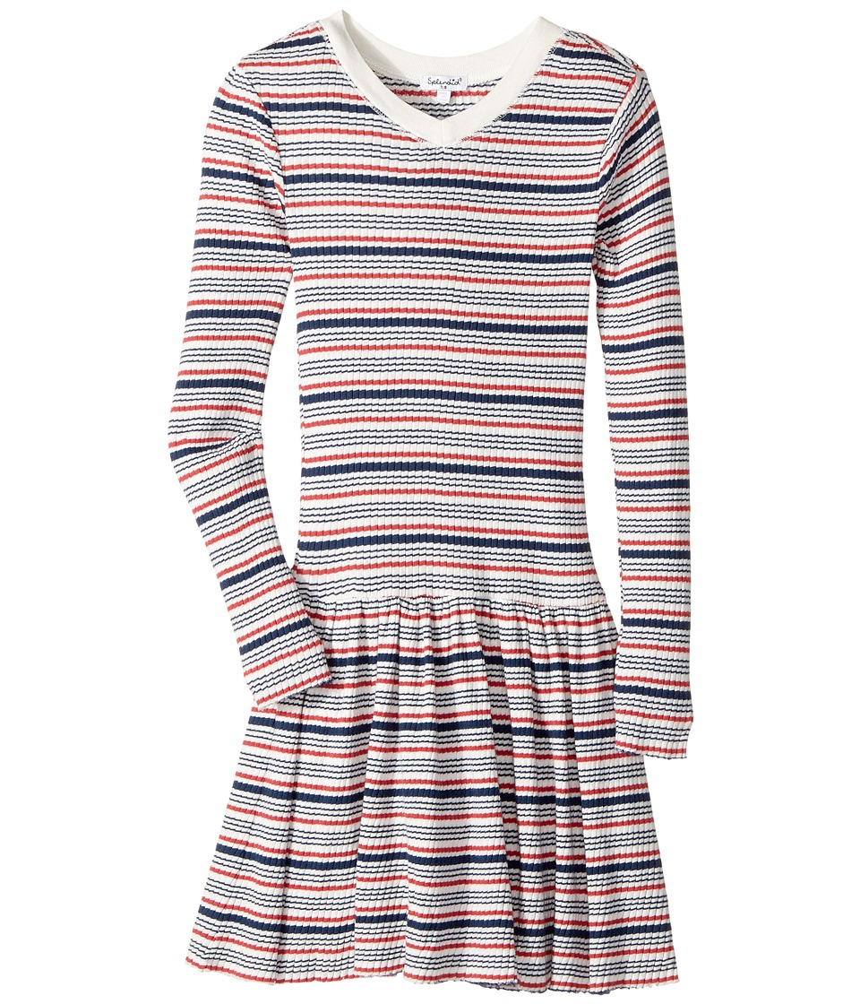 Splendid Littles - Yarn-Dyed Stripe Sweater Dress (Big Kids) (Stripe) Girl's Dress