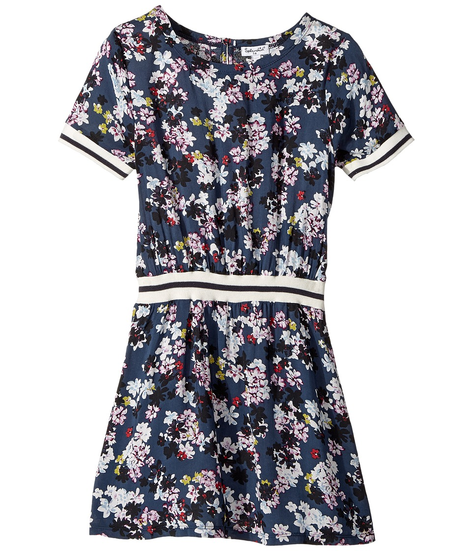 Splendid Littles - All Over Floral Printed Dress (Big Kids) (Print) Girl's Dress