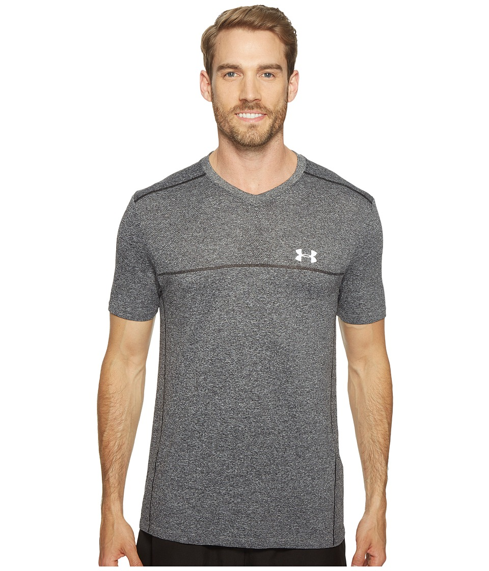 Under Armour - Threadborne Seamless Run Short Sleeve (Carbon Heather) Men's Clothing