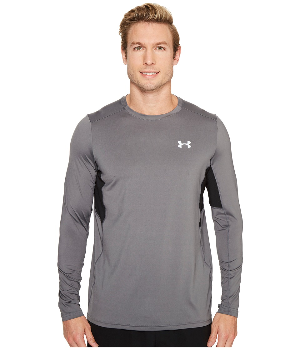 Under Armour - UA Coolswitch Run Long Sleeve (Graphite) Men's Clothing