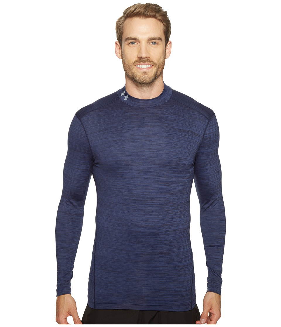Under Armour - UA Coldgear(r) Armour Twist Mock (Midnight Navy) Men's Clothing