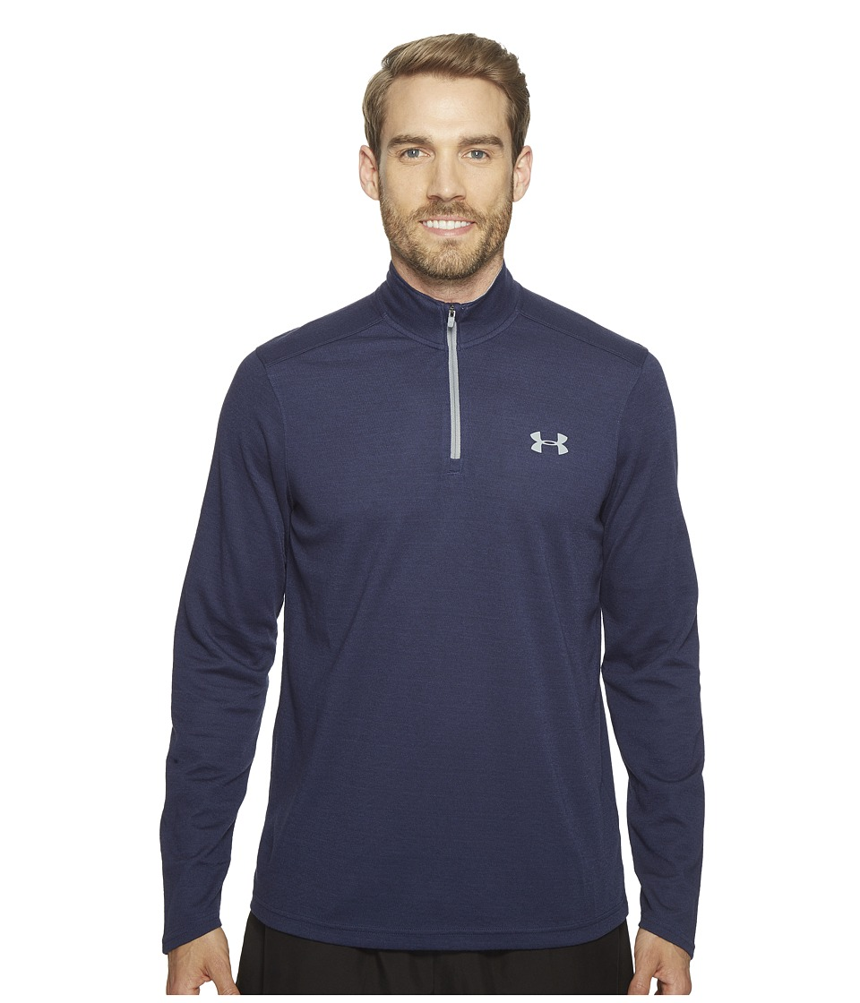 Under Armour - UA Coldgear Infrared 1/4 Zip (Midnight Navy) Men's Clothing