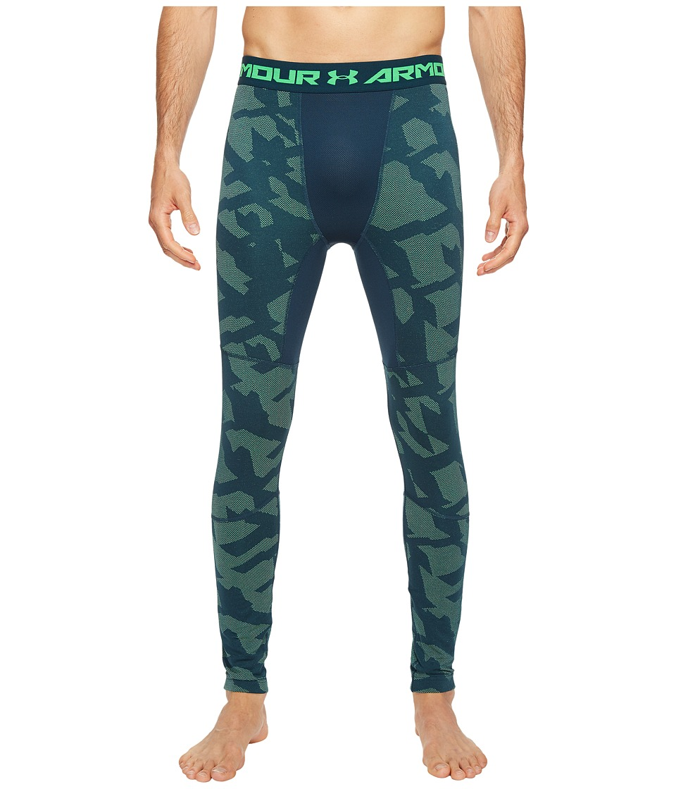 Under Armour - Coldgear(r) Armour Jacquard Leggings (Nova Teal) Men's Casual Pants