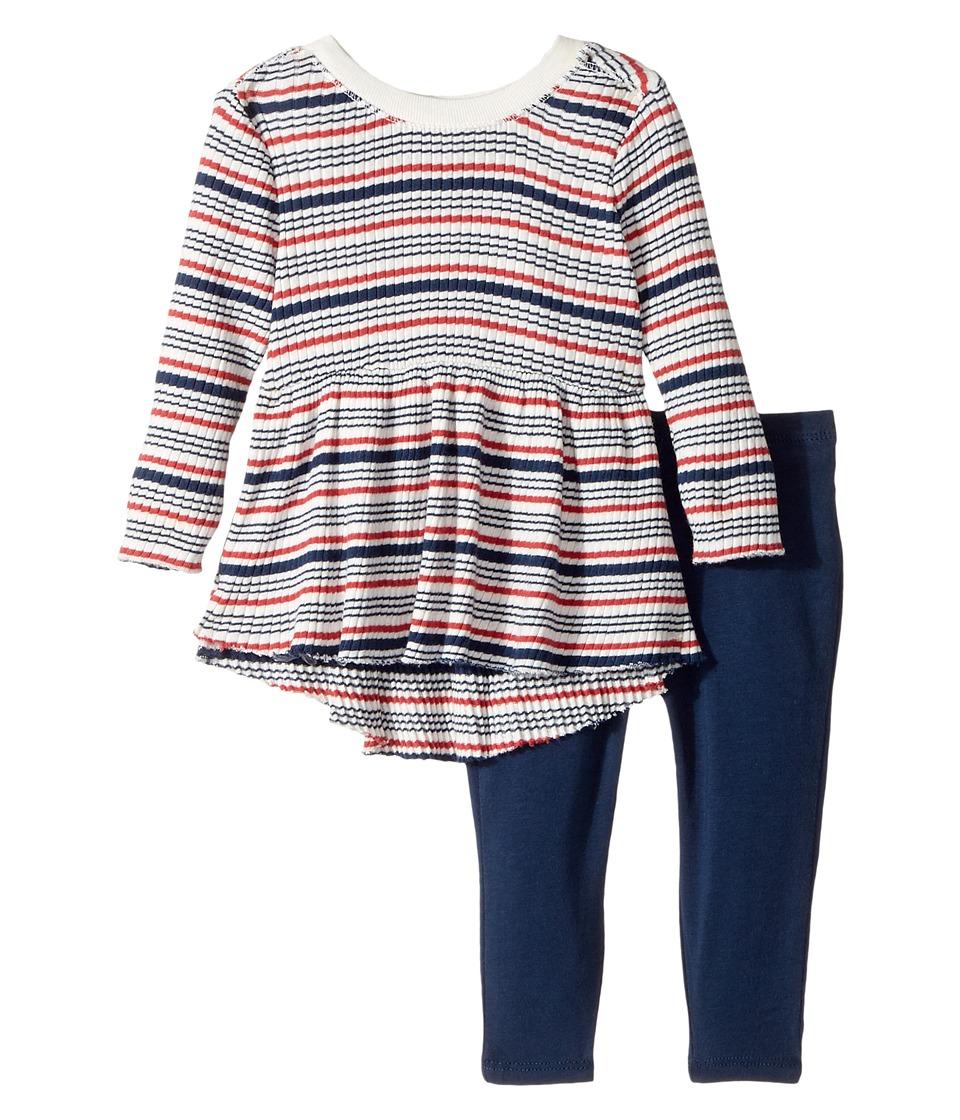 Splendid Littles - Yarn-Dyed Stripe Sweater Shirt with Leggings Set (Infant) (Stripe) Girl's Active Sets