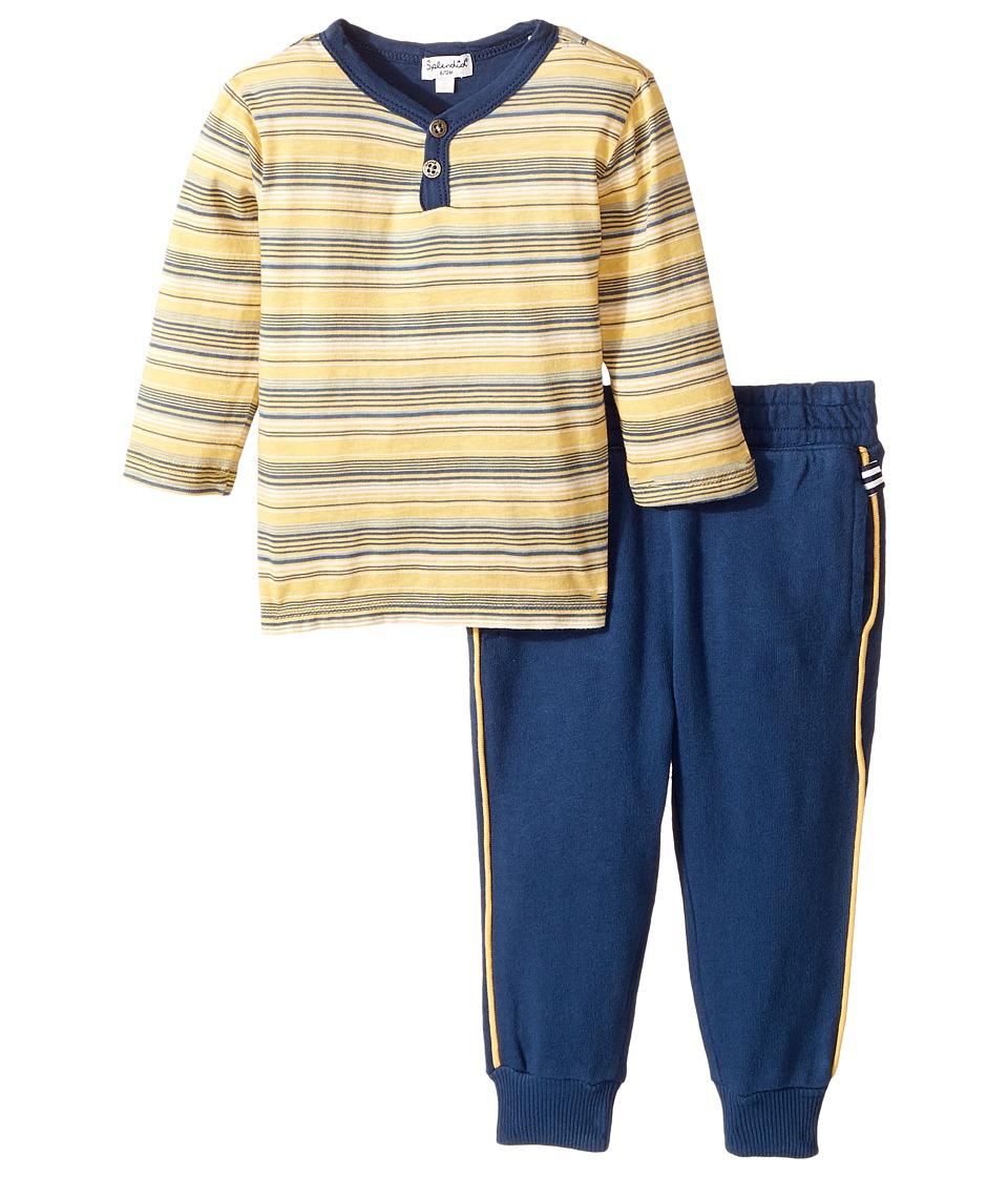 Splendid Littles - Striped Henley Shirt and Pants Set (Infant) (Stripe) Boy's Active Sets