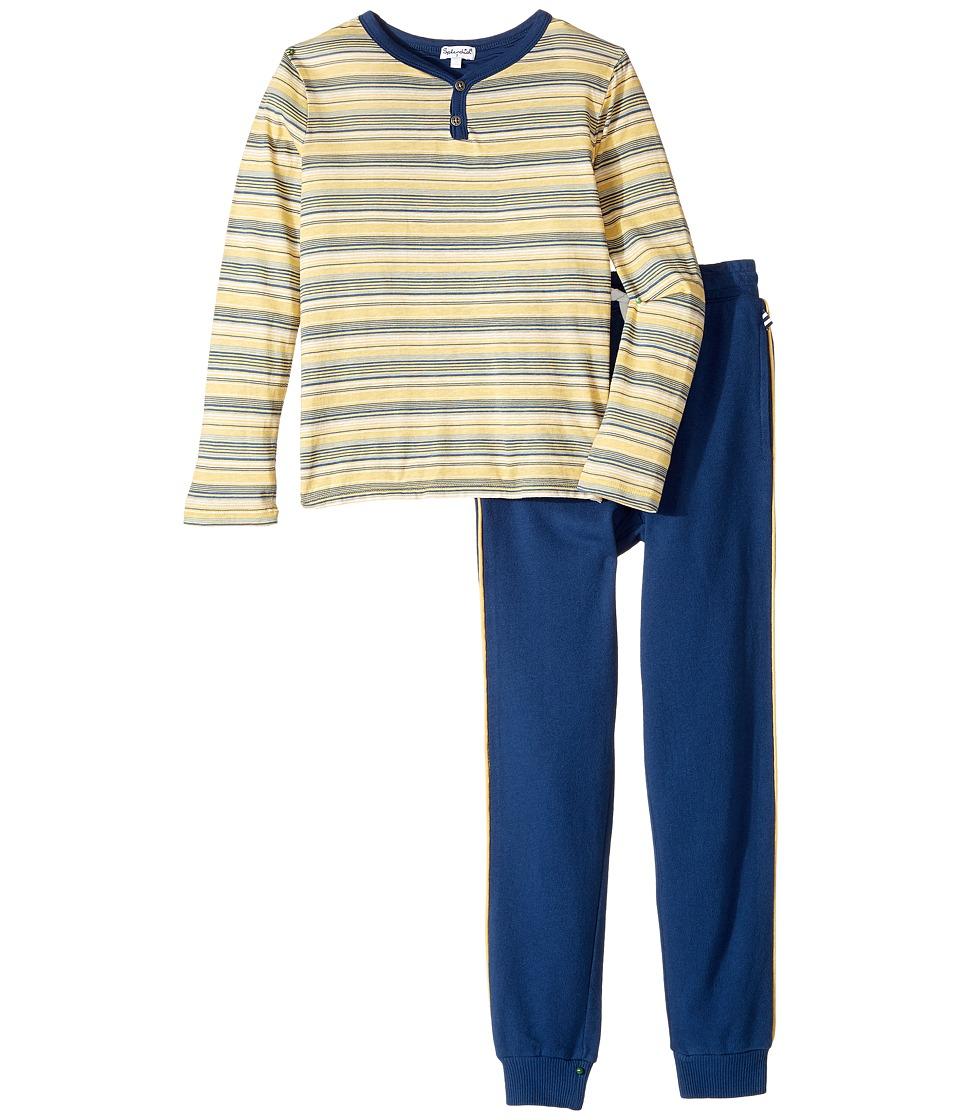 Splendid Littles - Striped Henley Shirt and Pants Set (Little Kids/Big Kids) (Stripe) Boy's Active Sets
