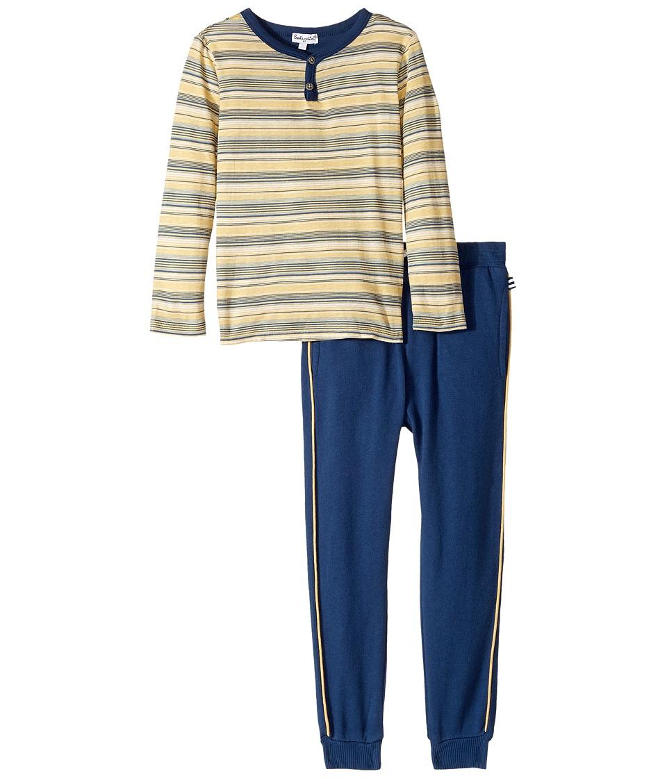 Splendid Littles - Striped Henley Shirt and Pants Set (Toddler) (Stripe) Boy's Active Sets