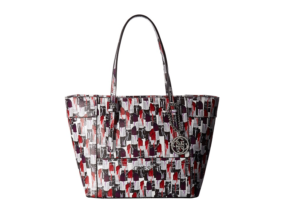 GUESS - Delaney Small Classic Tote (Lipstick Multi) Tote Handbags
