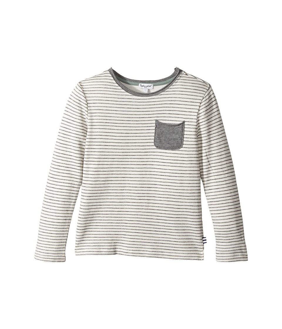 Splendid Littles - Striped Baby French Terry Top (Little Kids/Big Kids) (Off-White) Boy's Clothing