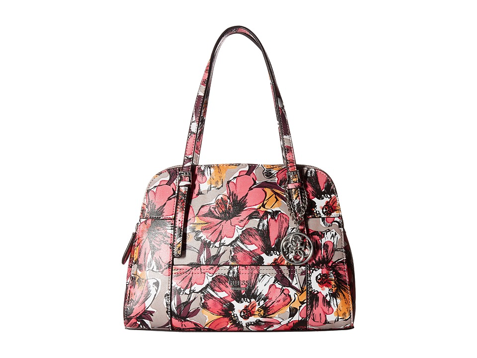 GUESS - Huntley Cali Satchel (Passion Floral) Satchel Handbags