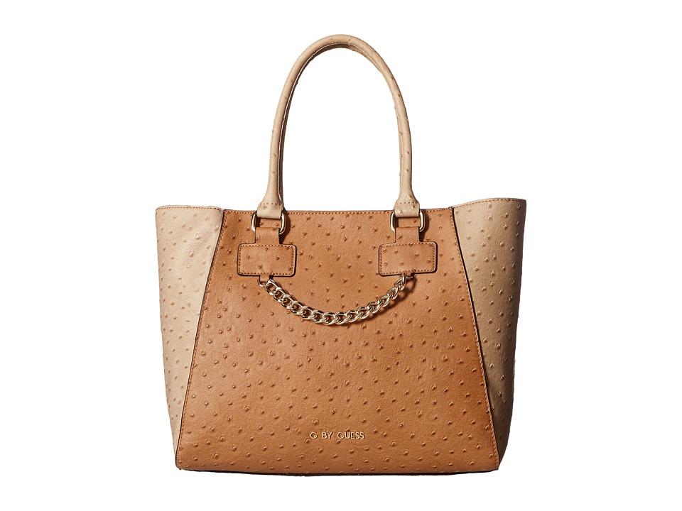GUESS - Fairwood Satchel (Cognac Multi) Satchel Handbags
