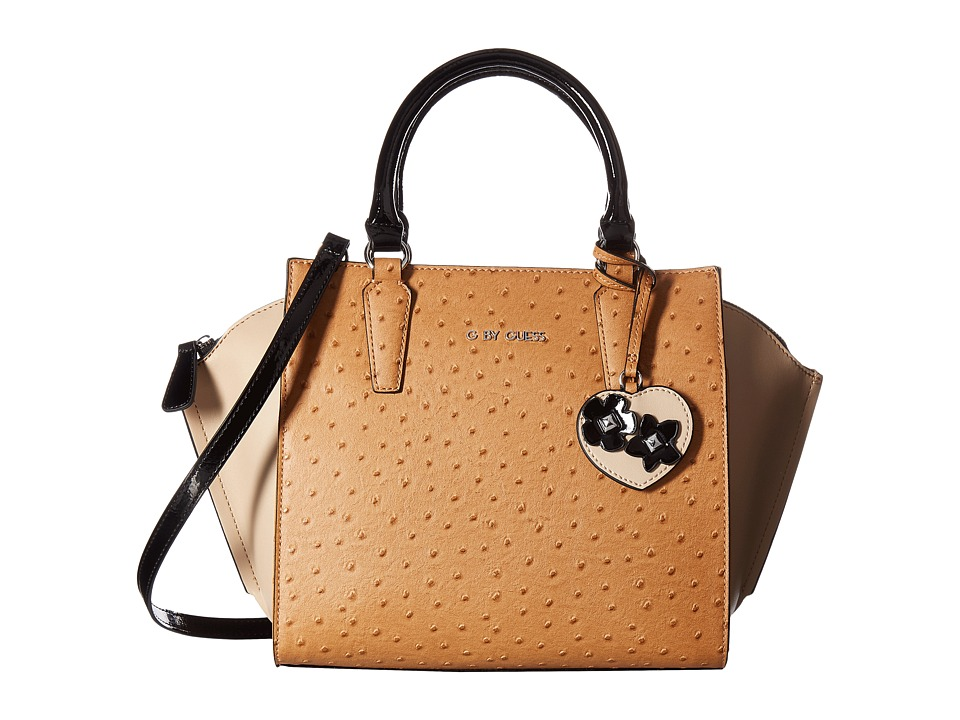 GUESS - Sunwashed Satchel (Cognac Multi) Satchel Handbags