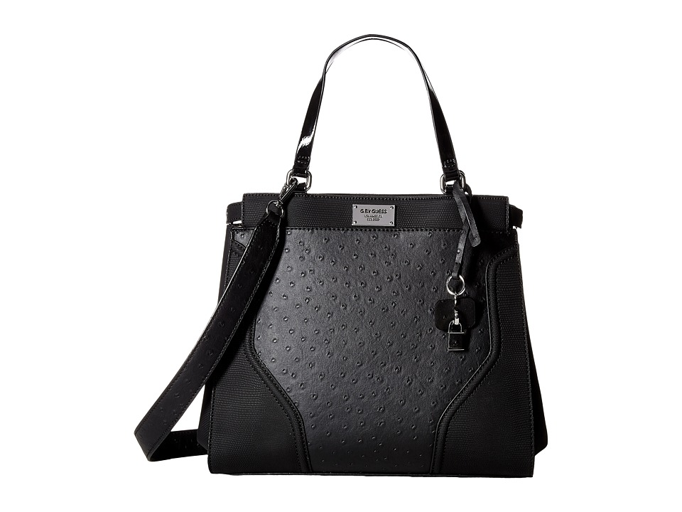 GUESS - Watch Me Satchel (Black) Satchel Handbags