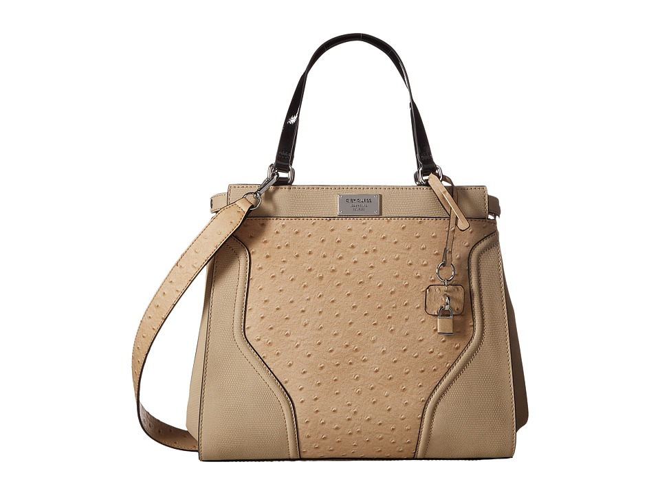 GUESS - Watch Me Satchel (Camel) Satchel Handbags