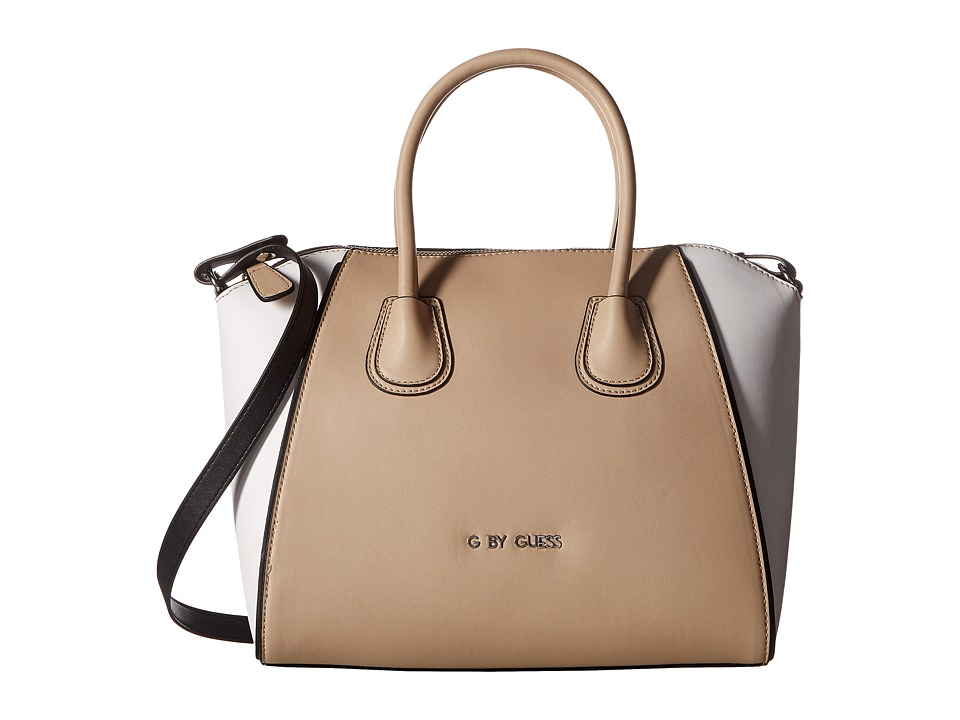 GUESS - Maelle Satchel (Tan Multi) Satchel Handbags