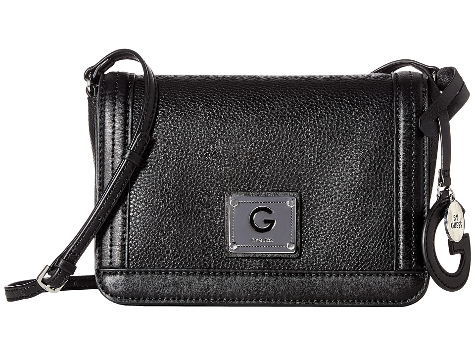 GUESS - Pearson Crossbody Flap (Black) Cross Body Handbags