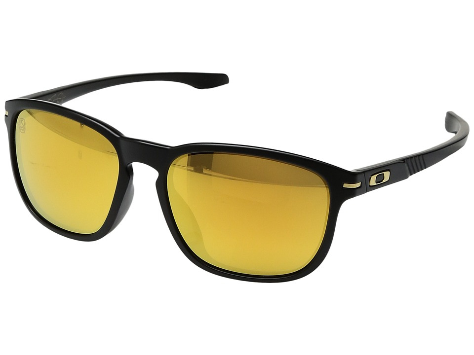 Oakley - (A) Enduro (Matte Black/24K Iridium) Sport Sunglasses