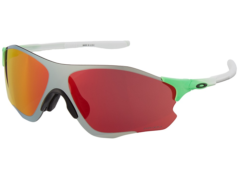 Oakley - (A) EVZero Path (Green Fade/Prizm Chrome Iridium) Sport Sunglasses