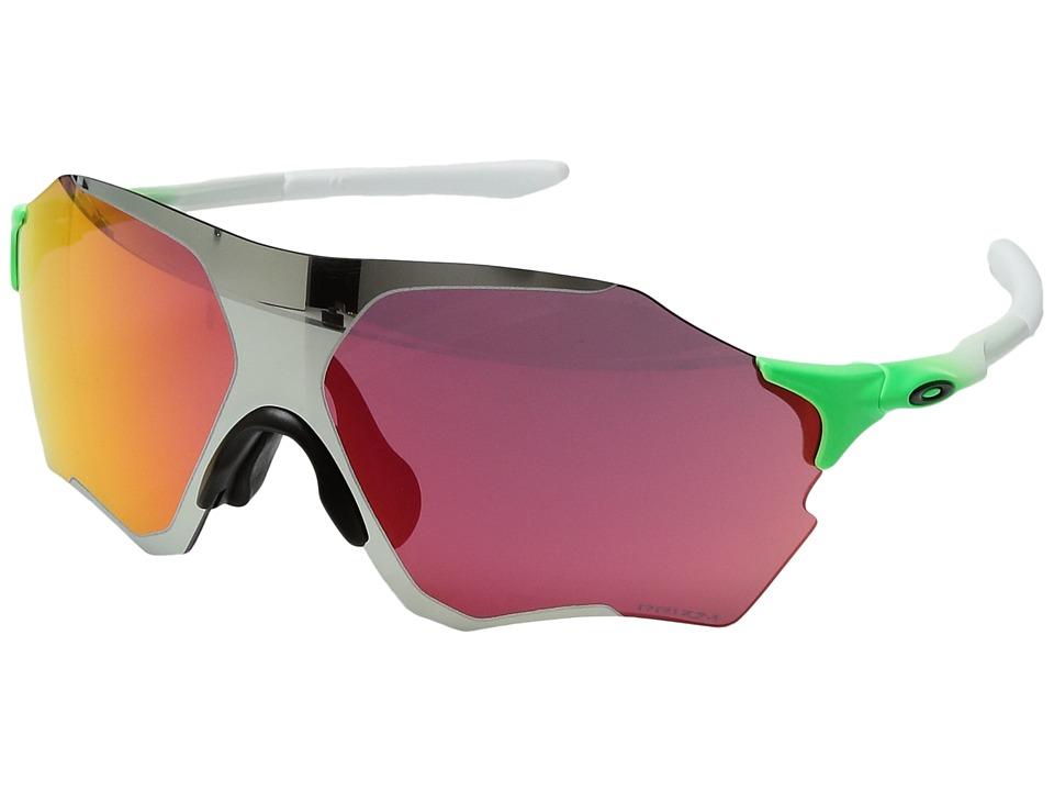 Oakley - (A) Evzero Range (Green Feld/Chrome Iridum) Sport Sunglasses