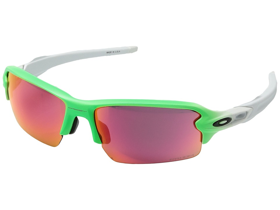 Oakley - (A) Flak 2.0 (Green Fade/Prizm Field) Sport Sunglasses
