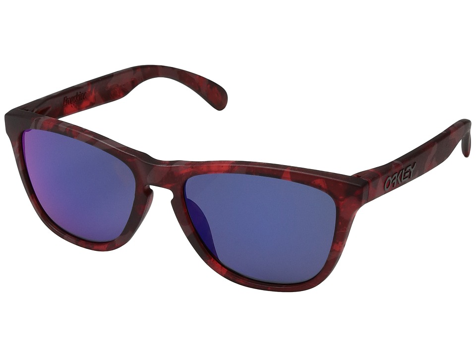 Oakley - (A) Frogskins (Red Shadow Camo/Red Iridium) Sport Sunglasses