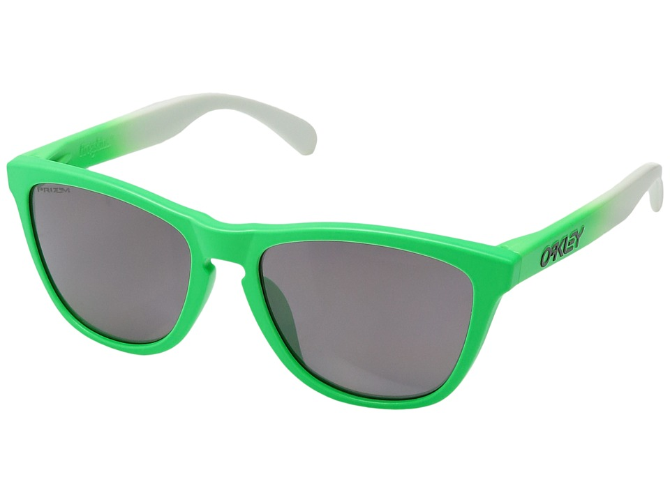 Oakley - (A) Frogskins (Green Fade/Prizm Daily Polarized) Sport Sunglasses