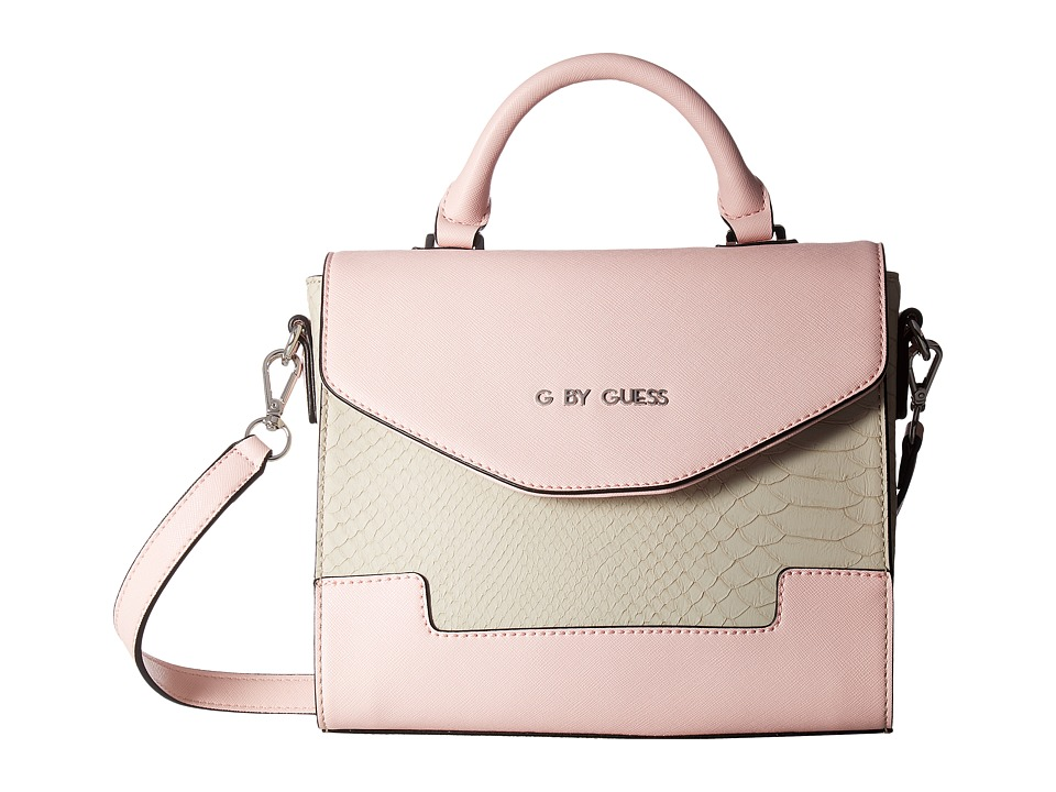 GUESS - Wardley Top-Handle Flap (Stone Multi) Top-handle Handbags