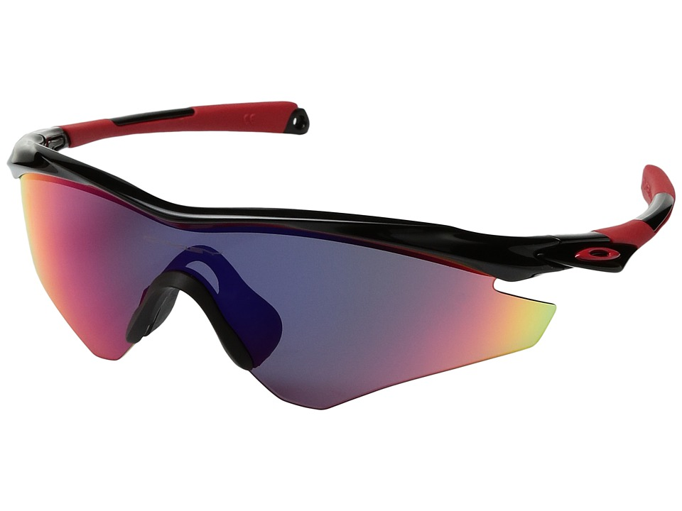 Oakley - (A) M2 Frame Polarized (Black/Red Iridium) Sport Sunglasses