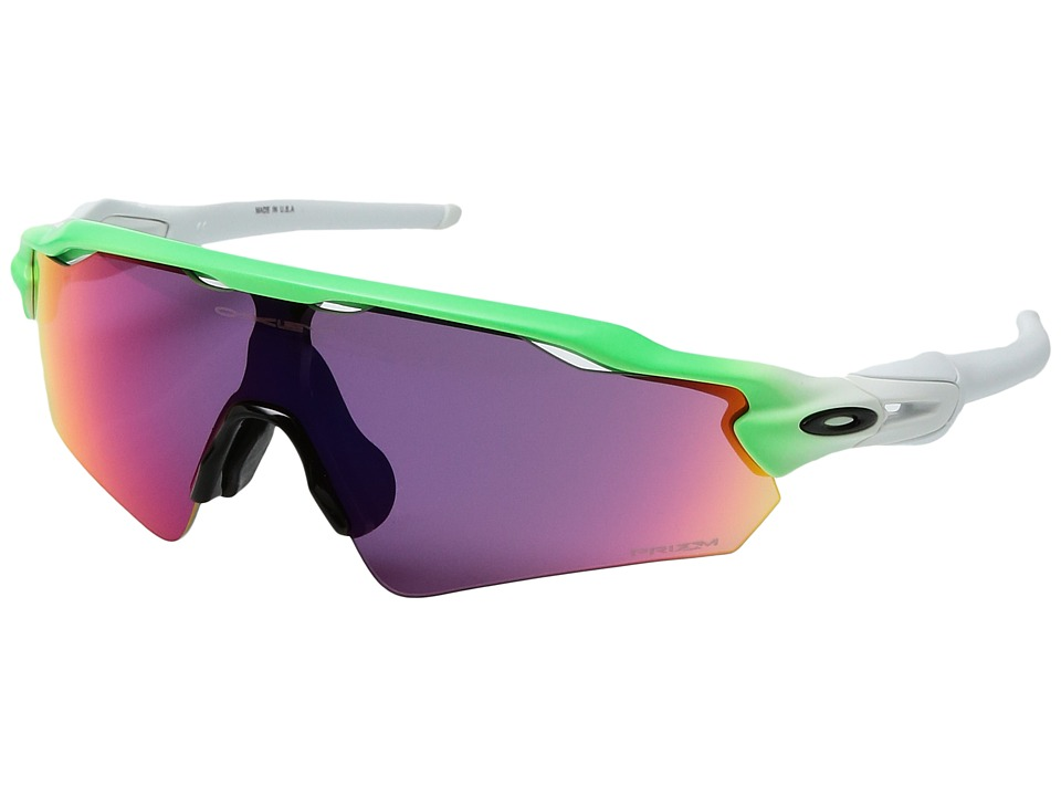 Oakley - (A) Radar EV Path (Green Fade/Prizm Red) Sport Sunglasses