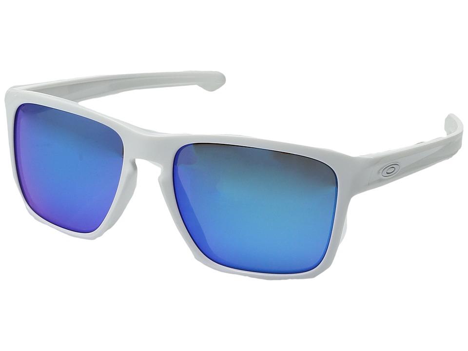 Oakley (A) Sliver XL (White/Sapphire Iridium) Sport Sunglasses