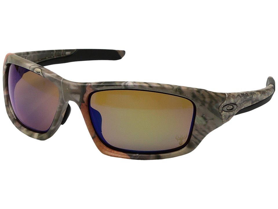 Oakley - (A) Valve (Woodland Camo/Shallow Blue Polarized) Sport Sunglasses
