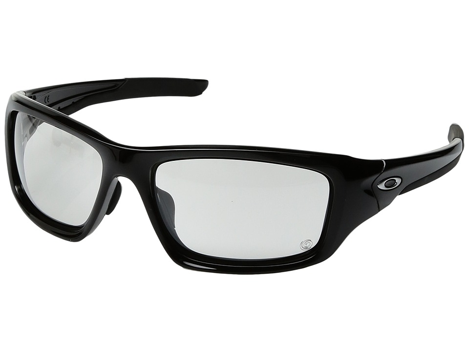 Oakley - (A) Valve (Polarized Black/Black Clear Photo) Sport Sunglasses