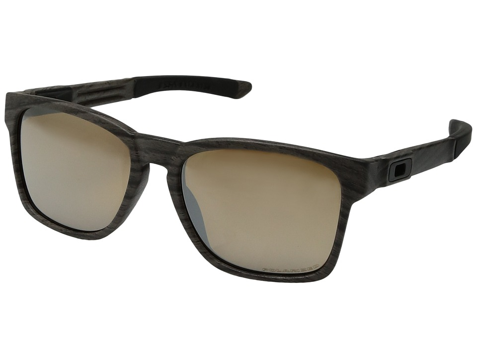 Oakley - Catalyst (Woodgrain/Tungsten Iridium) Sport Sunglasses