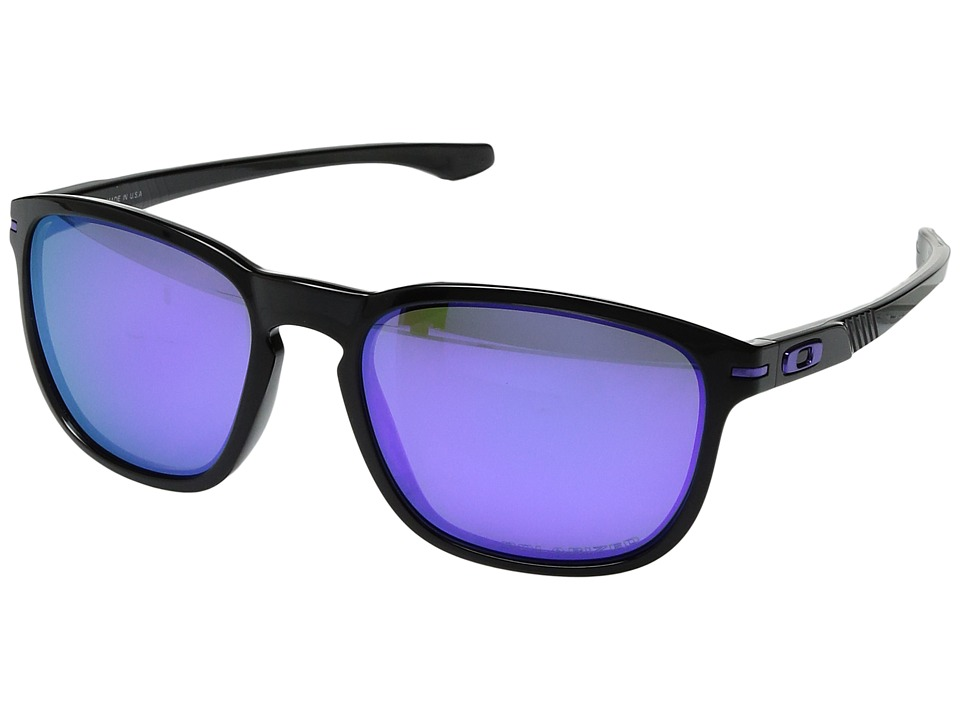 Oakley - Enduro (Black Ink/Violet Iridium Polarized) Sport Sunglasses
