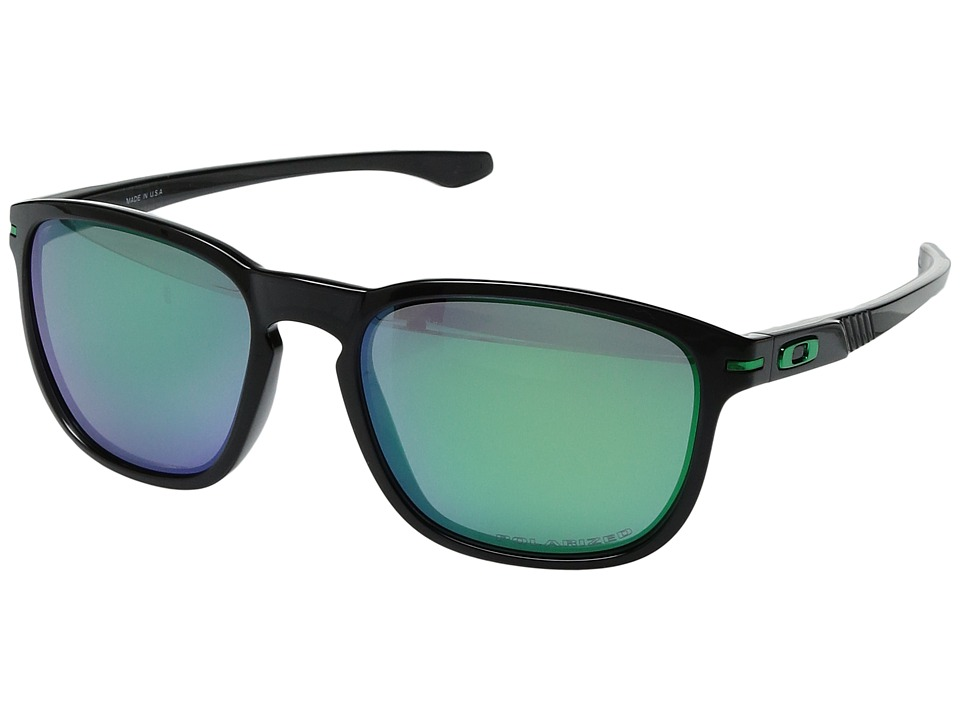 Oakley - Enduro (Black Ink/Jade Iridium Polarized) Sport Sunglasses