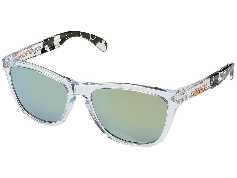 Oakley - Frogskins (Clear Camo/Emerald Iridium) Sport Sunglasses