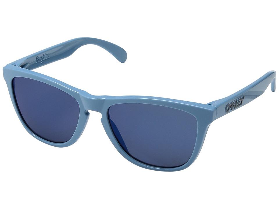 Oakley - Frogskins (Heritage Blue/Ice Iridium) Sport Sunglasses
