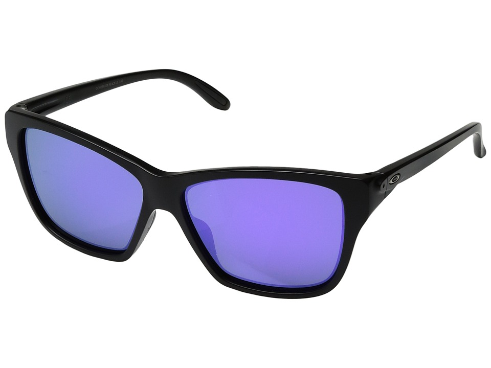 Oakley - Hold On (Matte Black/Violet Iridium) Sport Sunglasses