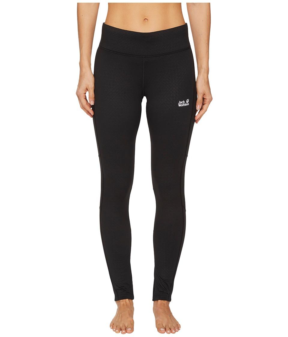 Jack Wolfskin Athletic Winter Tights (Black) Women
