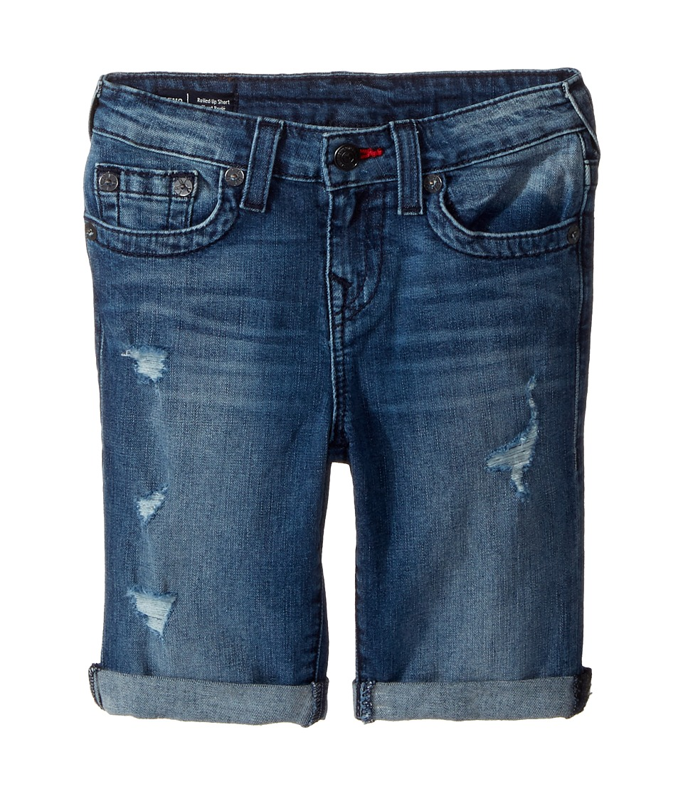 True Religion Kids - Geno Single End Shorts in Used Wash (Toddler/Little Kids) (Used Wash) Boy's Shorts