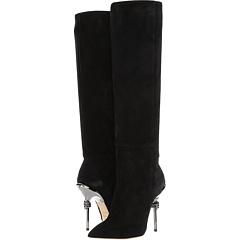 Suede 105mm Knee High Boot w/ Metal Heel Racine Carrée BE5AF46lKY