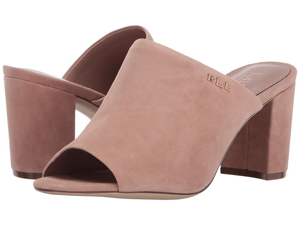LAUREN Ralph Lauren - Harlowe-SN (Nudemistyr Kid Suede) Women's Shoes