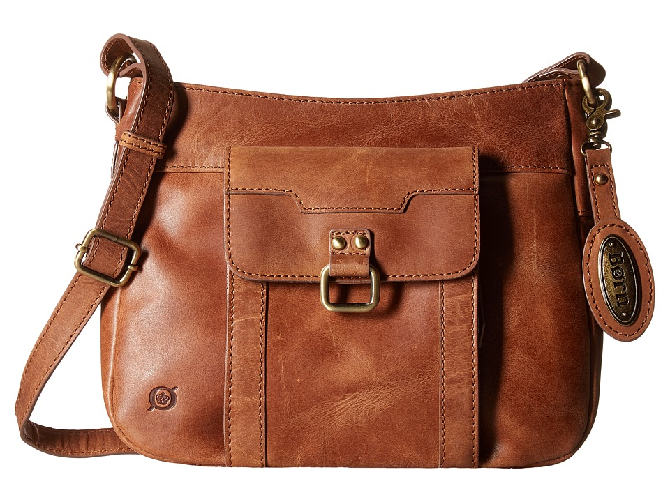 Born - Distressed Eudora Crossbody with Organizer (Saddle) Cross Body Handbags