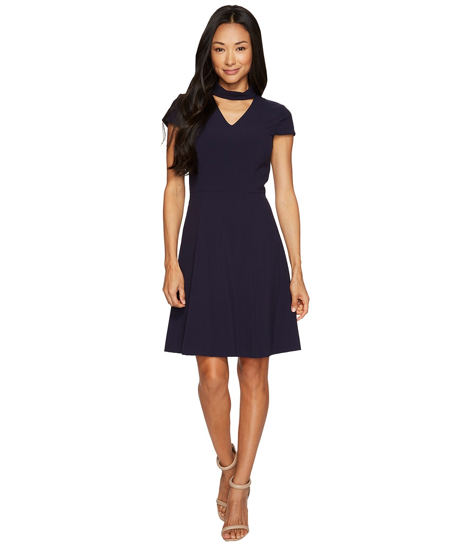 Tahari by ASL Petite - Petite Cut Out Dress (Navy) Women's Dress