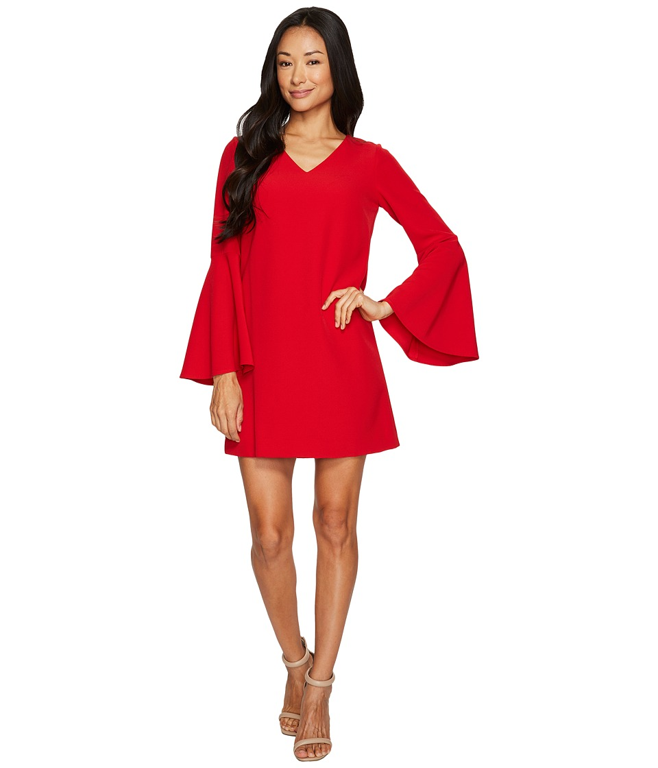 Tahari by ASL Petite - Petite Bell Sleeve Dress (Vermillion) Women's Dress