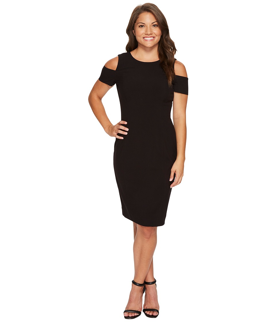 Tahari by ASL Petite - Petite Cold Shoulder Sheath Dress (Black) Women's Dress