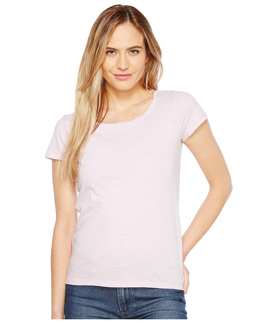 Calvin Klein Jeans - Essential Scoop Neck T-Shirt (Opal Pink) Women's Clothing